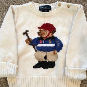 🐻 Ralph Lauren polo sweater teddy 18 M preppy!